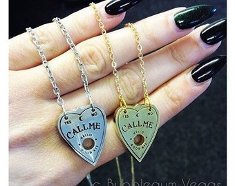 Call Me Ouija Planchette Necklace