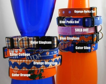 Dog Collar - Florida Gators - You Pick Fabric
