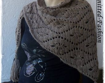 Women's Alpaca Brown silk shawls