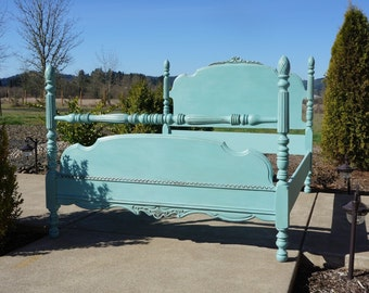 Antique Bed / Vintage Bed / Full Bed / Double Bed / Shabby Cottage Chic Bed / 1920-1930's era ~ Paint To Order