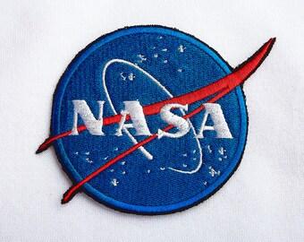 NASA patch Jacket patch NASA embroidery patch NASA Embroidered patch Cute patches Iron on Jeans patch Nasa embroidery Tumblr Patches ED9003