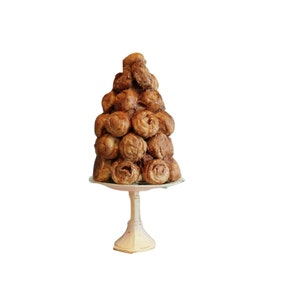 Fake Pastry Croquembouche - Fake Pastry Tower - Faux French Pastry - Event Decor - Wedding Centerpiece - French Cottage Wedding Decor