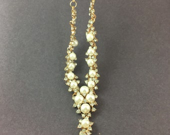 flower glass pearl necklace