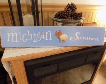 Michigan Summer Sign