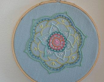Mandala // Handstitched Embroidery art