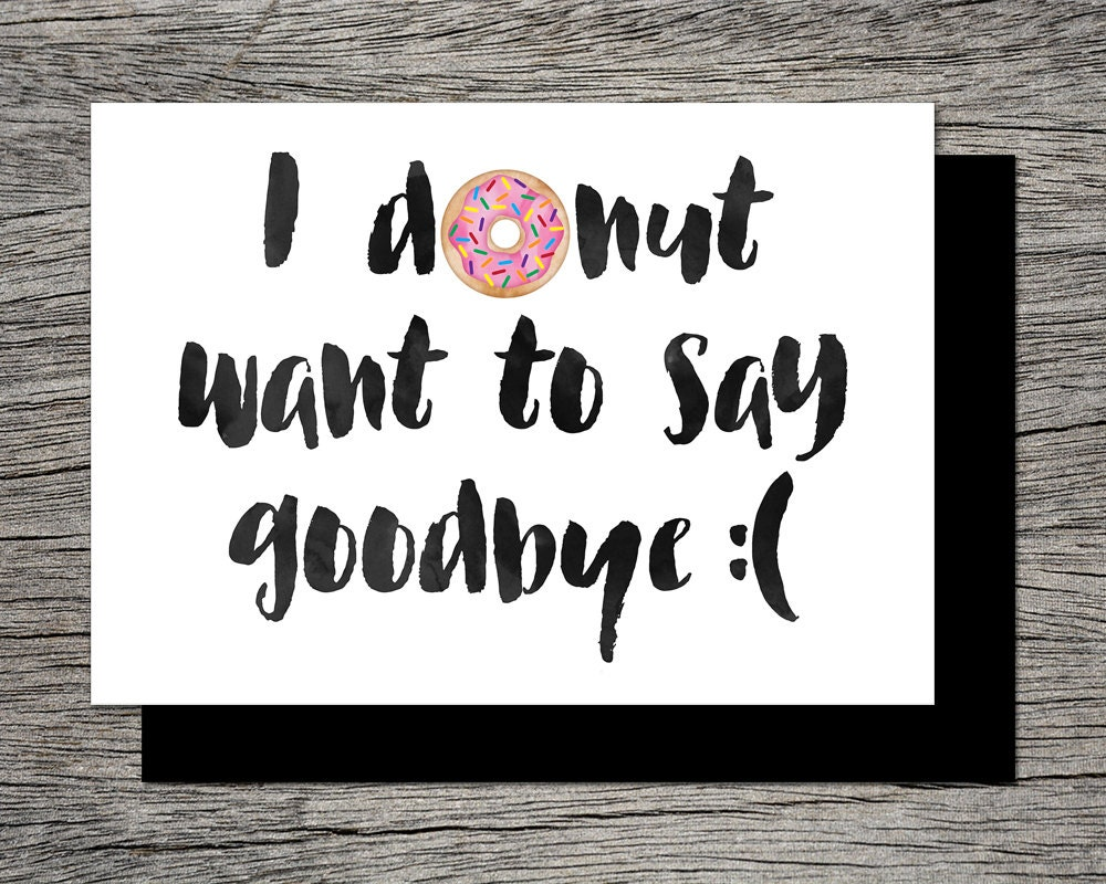 free printable goodbye cards