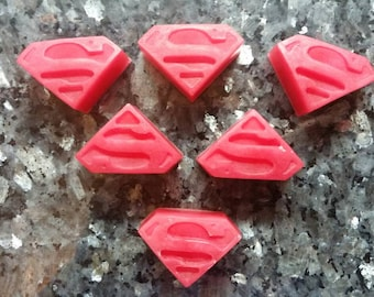Superman Soap / Comic Soap / Soap Favor / Party Favor / Stocking Stuffer / Gift for Him / Geek Gift