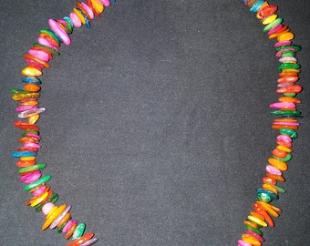 Vibrant Shell Necklace with Magnetic Clasp