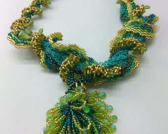 Blue Green Sea Necklace