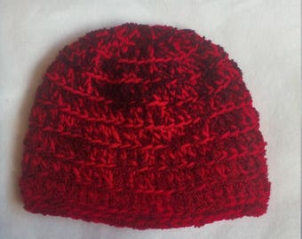 half price skull hat in shades of red
