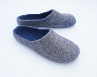 Men felted shoes Felted slippers Men slippers Felted slippers for men Mens house shoes Mens clogs Mann Hausschuhe männliche Hausschuhe