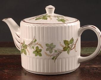 Ellgreave (Wood & Sons) Ironstone Teapot, England