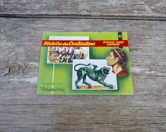 Vintage 1970/1980s French children's educational books Volumetric  Histoire des Civilisations