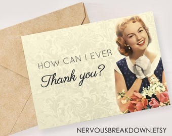 Thank You Card- PRINTABLE CARD
