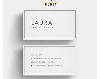 Minimalistic Business Card, Simple Calling Card, Clean Design, Business Marketing Contact Card, Branded Stationery, Business Card Template