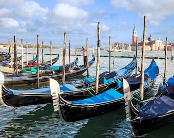 Venice Italy Photograph, Venice Canals, Grand Canal, Gondola, Fine Art Travel Photography