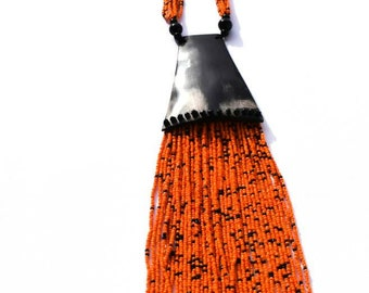 """Seed Bead Necklace """"rodoff"""""""