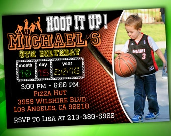 basketball Invitation, basketball birthday,basketball Printable Invite, basketball party, sports invites, digital