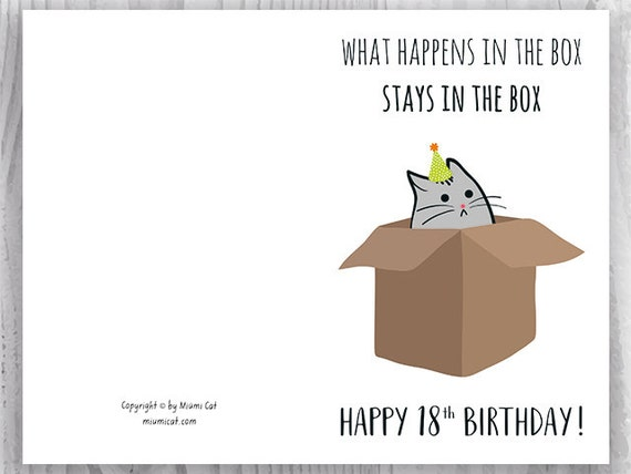 18th Birthday Printable Cards Funny 18th Birthday Cards