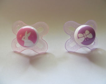 1 Reborn Doll Magnetic or Putty Pacifier Preemie Sized Girl CHOOSE