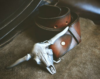 Genuine Leather Belt Bison Men's belt Women's belt genuine leather belt handmade belt for jeans handmade belt saddle leather belt