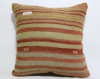 18x18 multicolour pillow ethnich pillow antique pillow decorative turkish kilim pillow boho pillow handmade pillow throw pillow SP4545-360