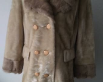 Funky 70's Faux Fur Car Coat
