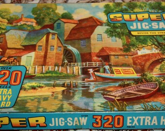 Super Jigsaw Tower Press made in England Guiterman Group no: 4686 Beside the stream vintage puzzle