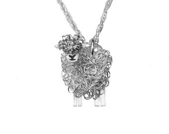 Silver Southdown sheep necklace, Sheep necklace, Sheep pendant, Southdown, Southdowns, Southdown Sheep present, Sheep jewellery, Sheep