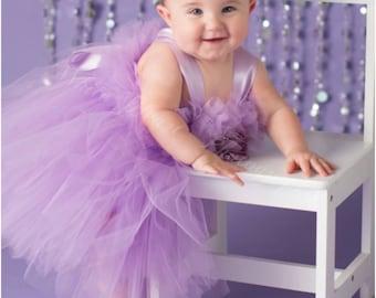PANSY  LIGHT PURPLE, Tutu Dress, Flower Girl Gown, Pageant Girl Dress, First Birthday Tutu, Lilac Tutu Dress, Lavender Dress, Baptism Gown