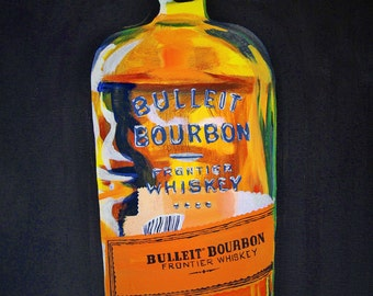 "Bulleit Bourbon-Signed Digital Print or Original Painting titled ""Supplies"", Kentucky Pop Art Painting, Galerie Jerielle Painting, Artwork"