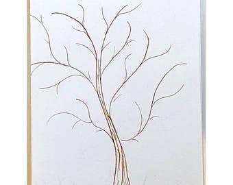Hand-drawn Note Card tree, nature calls