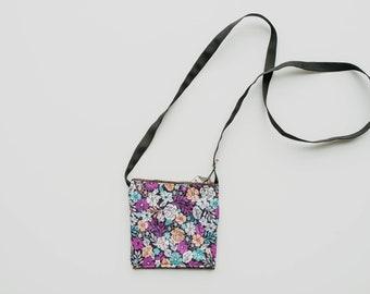 Floral Fabric Print Crossbody Bag