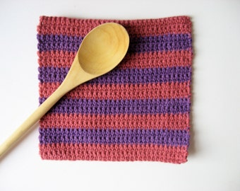 cotton pot holder large wide stripes