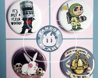 Monty Python Search for the Holy Grail inspired pinback button badge