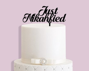 Just Nikahfied Wedding Cake Topper