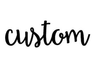 Custom pattern girl/baby/toddler bow