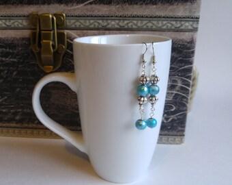 Antik Silber und Türkis Ohrringe, Geschenk für sie, Strumpf Stuffer, handgefertigt von Felicianation