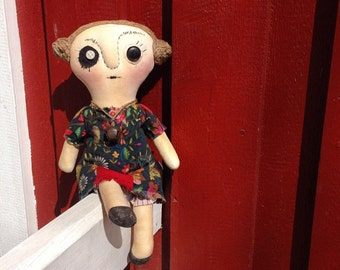 primitive handmade doll