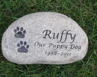 Memorial Gifts. Dog Memorials. Cat, Personalized Pet Memorial Stone Grave Marker Memorial Burial Stone Marker Garden Memorial Stone 8-9 Inch
