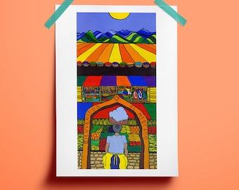 Market - Acrylic Painting