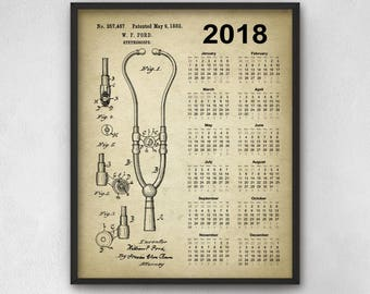Doctor Patent Prints Set of 9 2 Medical Equipment Design