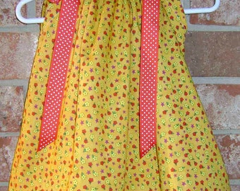 Tiny Flowers boutique Pillowcase Dress size 18/24 month only -immediate ship :PC006