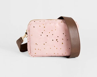 Cross body bag, Vegan Purse, Pink, Gift for her, Vegan bag, Leather purse, gift for women, Crossbody purse, Clutch bag, Cross body purse