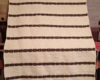 Handwoven Rustic Wool Area Rug