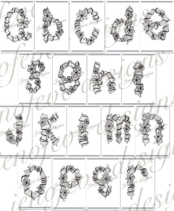 Hand Drawn Alphabet Bundle digital download Fun and Whimsical