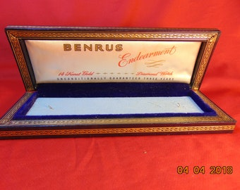 One (1), Benrus, Endearment, 14 Karat Gold, Diamond Watch, Display, Presentation Case.