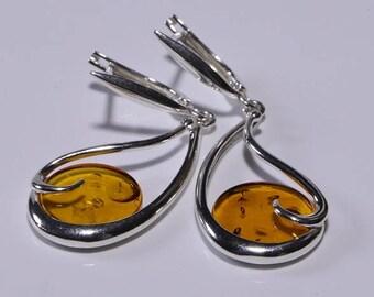 Baltic Amber Earrings Natural Amber Earrings Amber Jewelry Gemstone Jewelry Baltic Amber Jewelry