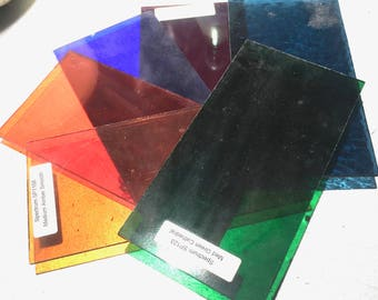 Stained Glass Spectrum 96 Coe Set of 6. 6x3 ins #3