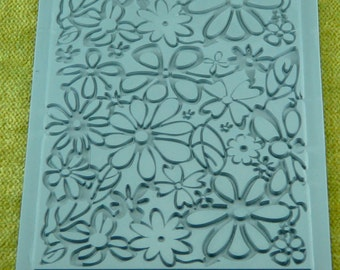 Lisa Pavelka Rubber Stamp Groovy Flowers  for Clay and Ink